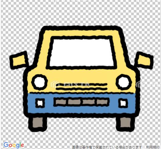 車のイラスト手書風線画アイコン