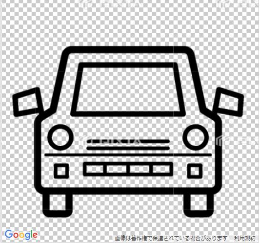 車のイラスト線画のみ