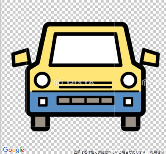 車のイラスト線画アイコン